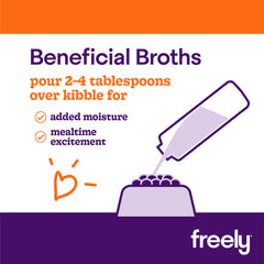 Freely Broth Lamb Dog Food pour over kibble for moisture and excitement