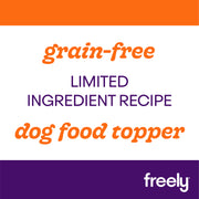 Freely Broth Lamb Dog Food is limited ingredient and grain free dog food topper