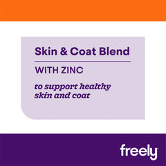 Freely Broth Lamb Dog Food Skin and Coat blend supports healthy skin and coat