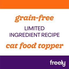 Freely Broth Turkey Cat Food is limited ingredient and grain free cat food topper