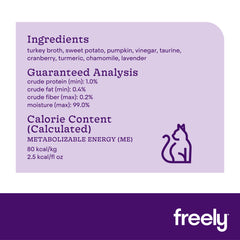Freely Broth Turkey Cat Food Nutrition