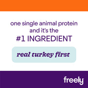 Freely Turkey Dry Dog Food is Real Turkey First Single Animal Protein