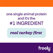 Freely Turkey Dry Cat Food is Real Turkey First Single Animal Protein