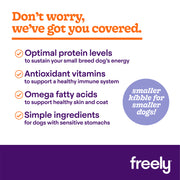 Freely Lamb Small Breed Dry Dog Food Benefits and Smaller Kibble for Smaller Dogs