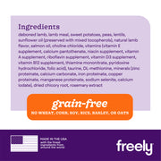 Freely Lamb Small Breed  Dry Dog  Food Ingredients