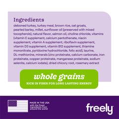 Freely Turkey Dry Dog Food Ingredients