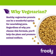 Freely Vegetarian Dry Dog Food is Healthy Vegetarian Protein