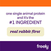 Freely Rabbit Wet Cat Food is Real Rabbit First Single Animal Protein