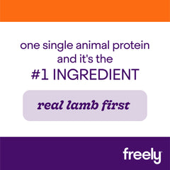 Freely Lamb Wet Dog Food is Real Lamb First Single Animal Protein