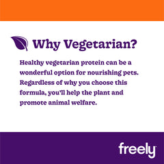 Freely Vegetarian Wet Dog Food is healthy plant based protien