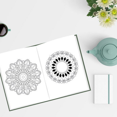 Adult coloring book for mindfulness