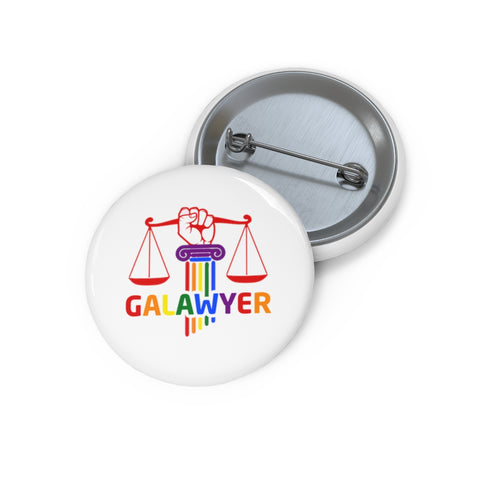 Custom Pin Buttonswith GA Lawyer Logo