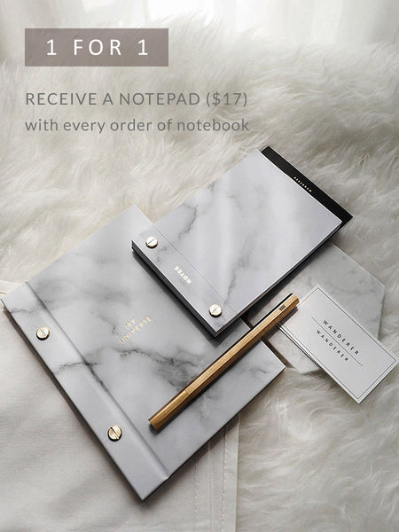 [1 For 1] Notepad + Notebook