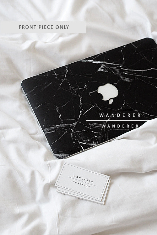 san francisco 86eb8 59968 Black Marble Skin For Macbook (Front Only)