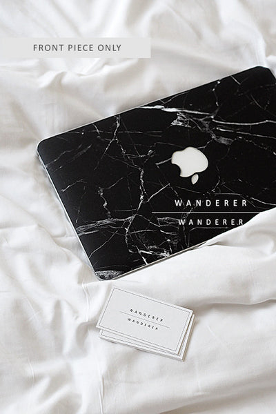 Black Marble Skin For Macbook (Front Only) , Apartment - Wanderer Wanderer, Wanderer Wanderer  - 1