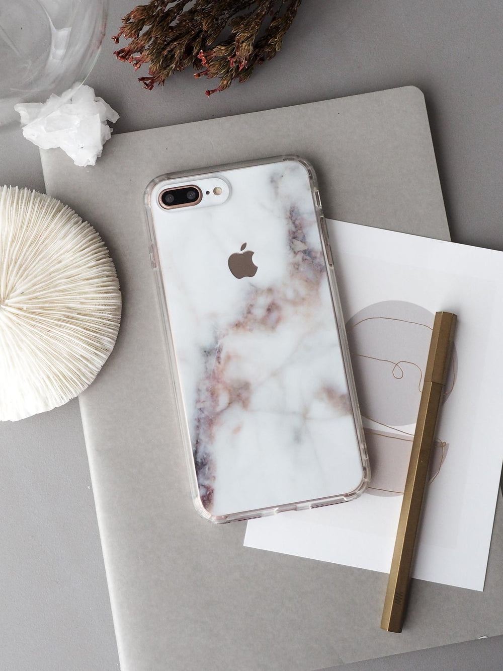 Nebula Marble Skin + Case (iPhone)