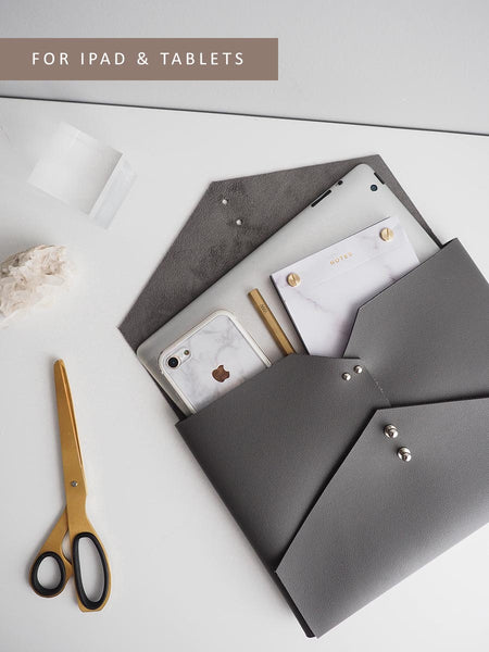 Wanderer Clutch for iPad (Grey)