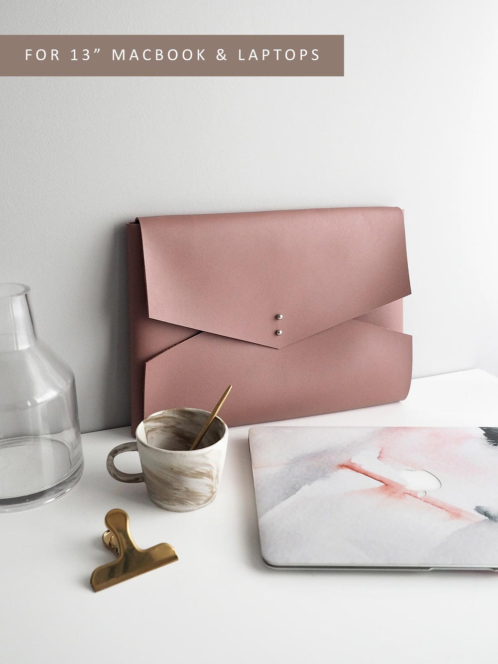 Wanderer Clutch for MacBook (Wild Rose)