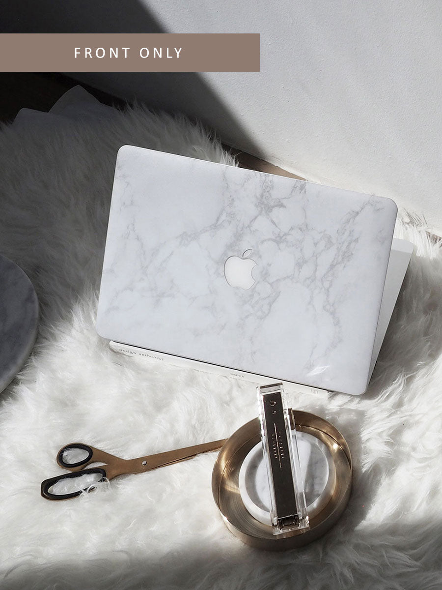 White Marble Skin For Macbook (Front Only)