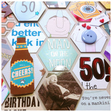 Load image into Gallery viewer, 50th Birthday Card Frame