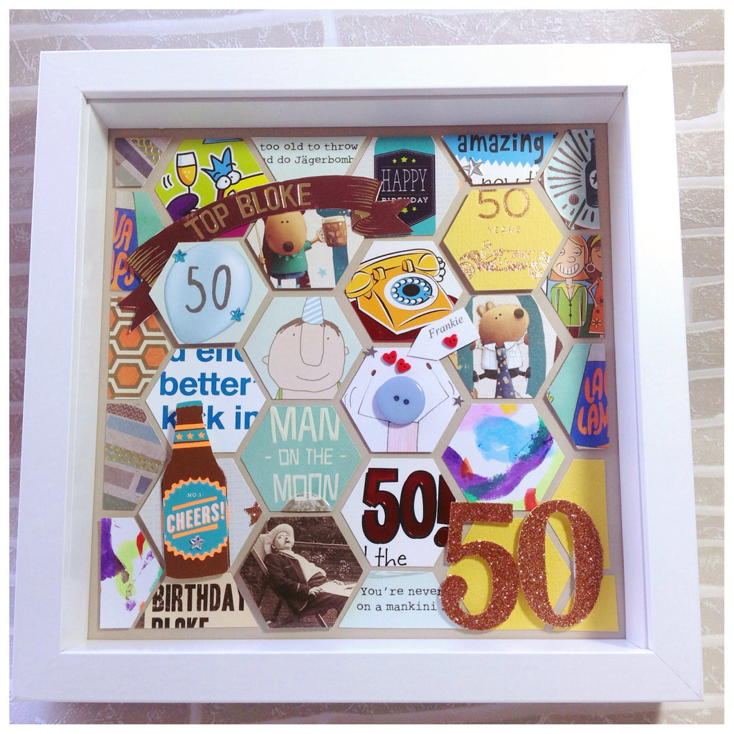 50th Birthday Card Frame