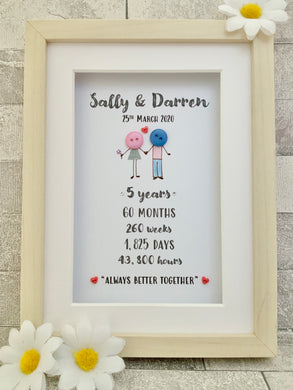 Anniversary Button Frame