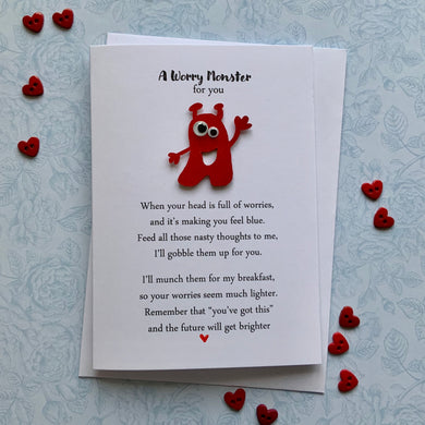 A Worry Monster Card