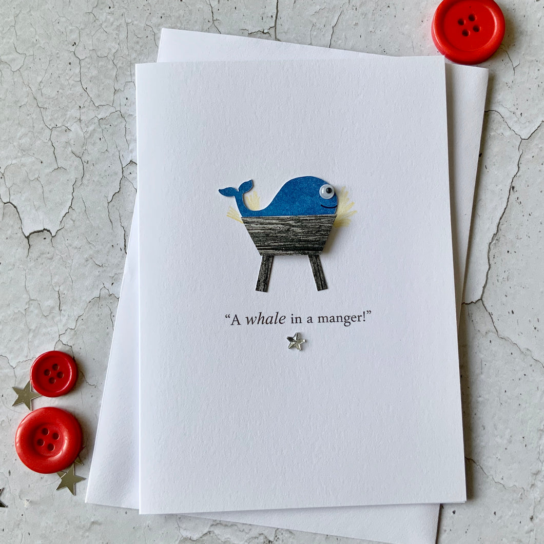 A Whale In A Manger Card