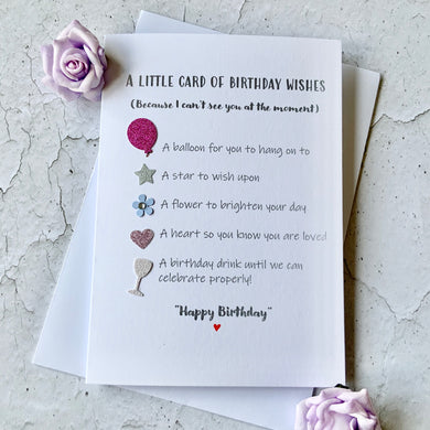 Little Card Of Birthday Wishes