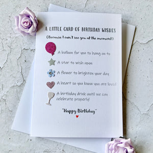 Little card of Birthday wishes- Personalised