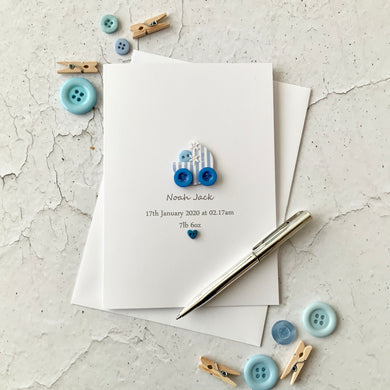 New Baby Boy - Personalised Card