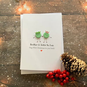Brother & Sister In Law Ha-Pea Christmas - Personalised