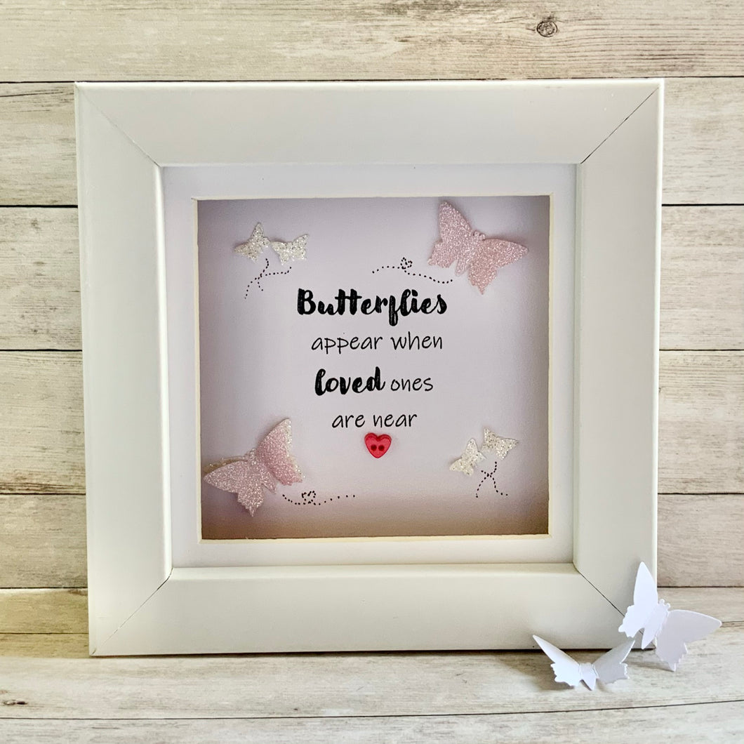 Butterflies Appear Mini Frame