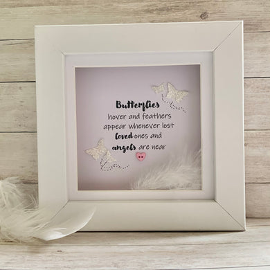 Butterflies Hover & Feathers Appear Mini Frame