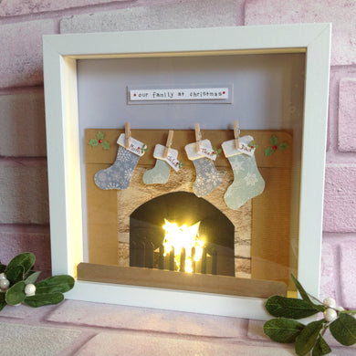 Light up Christmas Fireplace Frame