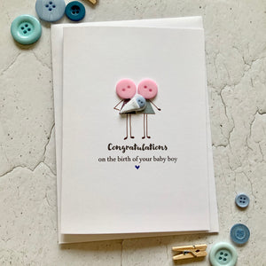 Congratulations on the birth of your Baby Boy Card