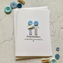 Load image into Gallery viewer, Congratulations on the birth of your Baby Boy Card
