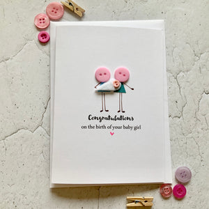 Congratulations on the birth of your Baby Girl Card