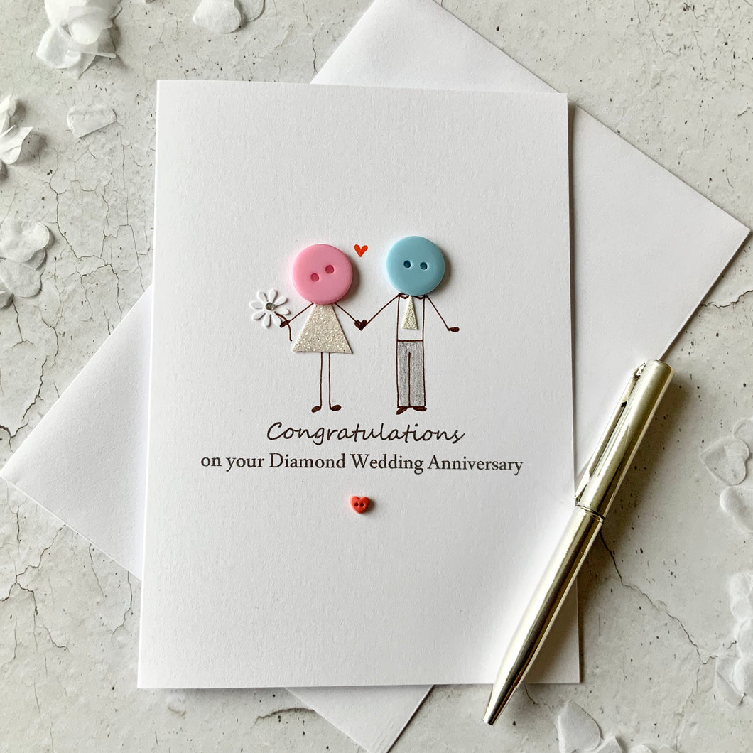Congratulations on your Diamond Wedding Anniversary Card