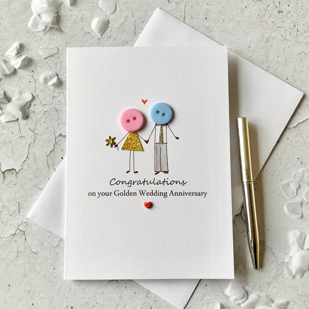 Congratulations on your Golden Wedding Anniversary Card