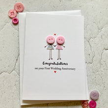 Load image into Gallery viewer, First Wedding Anniversary Card- Personalised