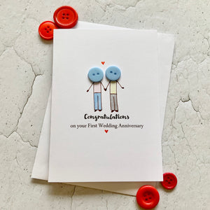 First Wedding Anniversary Card- Personalised