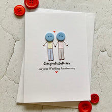 Load image into Gallery viewer, Congratulations On Your Wedding Anniversary Card