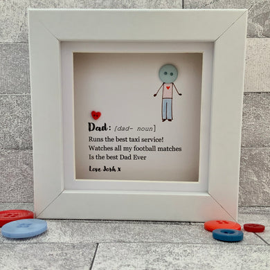 Dad Definition Personalised Mini Frame