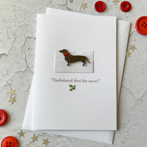 Dachshund Thru The Snow Card