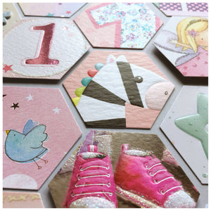1st Birthday Card Frame