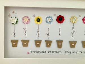 Friends Are Like Flowers Large Frame