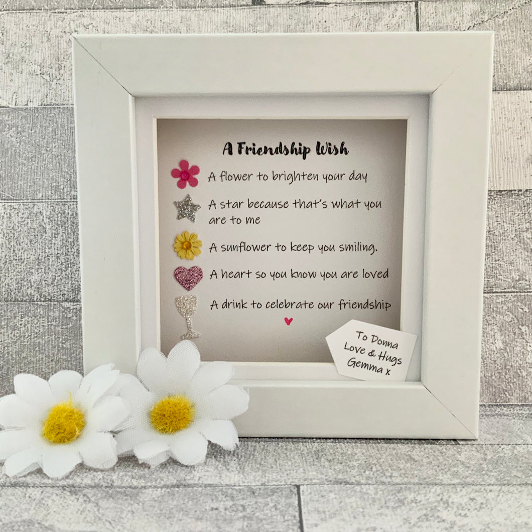 Friendship Wish Mini Frame