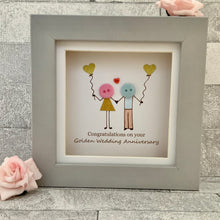 Load image into Gallery viewer, Golden Wedding Anniversary Mini Frame