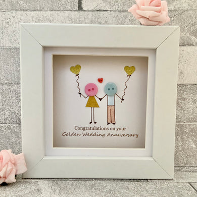 Golden Wedding Anniversary Mini Frame